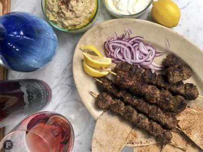 Turkish-Style Kofte with Baba Ganoush and Yogurt Sauce