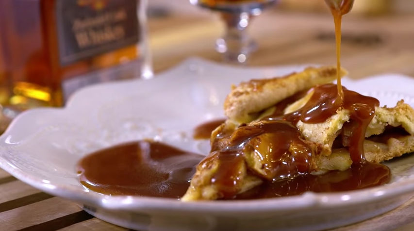 Apple Galette with Whiskey Caramel