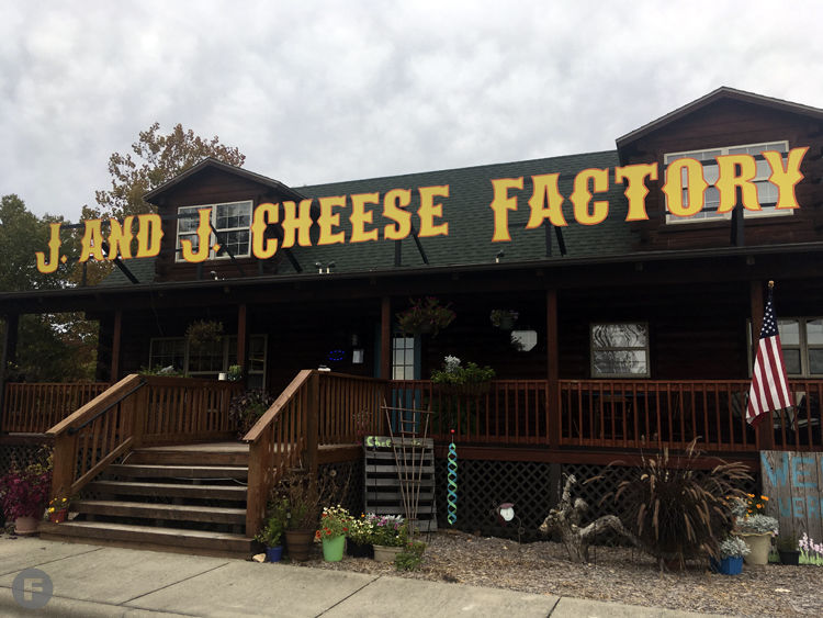 J and J Cheese Factory Exterior