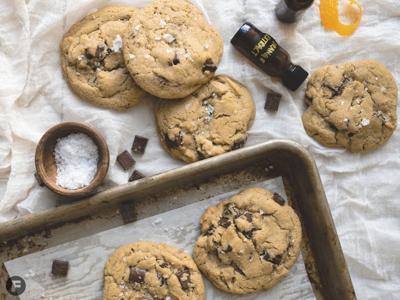 Orange-Tahini-Chocolate Chunk Cookies