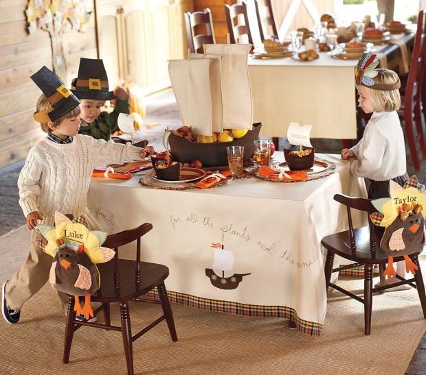Pottery Barn Kids Thanksgiving Table