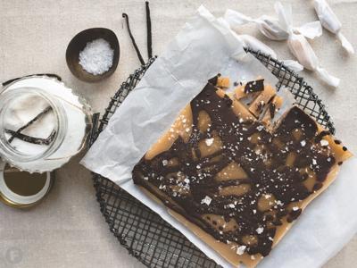 Vanilla Caramels With Dark Chocolate and Sea Salt