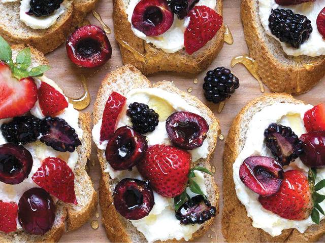 Dessert for Two Berry Crostini