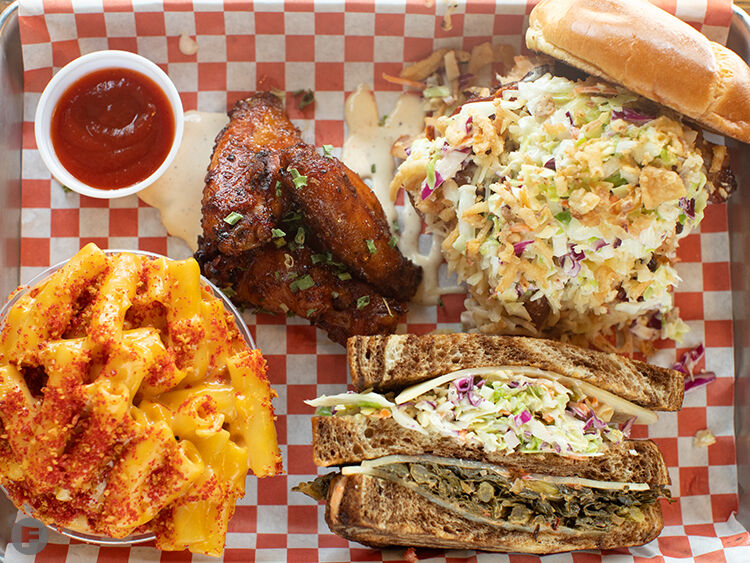 Navin's BBQ dishes