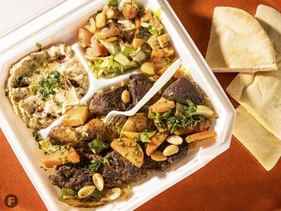 Queen Sweets and Mediterranean Grill mashawi mix plate