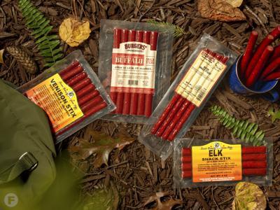 Wild game snack sticks