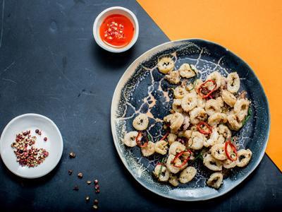 Sichuan Pepper and Fennel Calamari