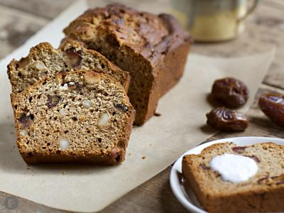 Honey, Date and Macadamia Nut Loaf