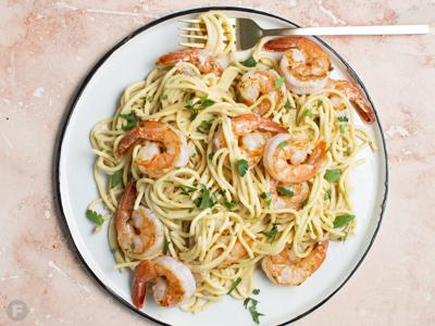 Shrimp in Amaro-Cream Sauce
