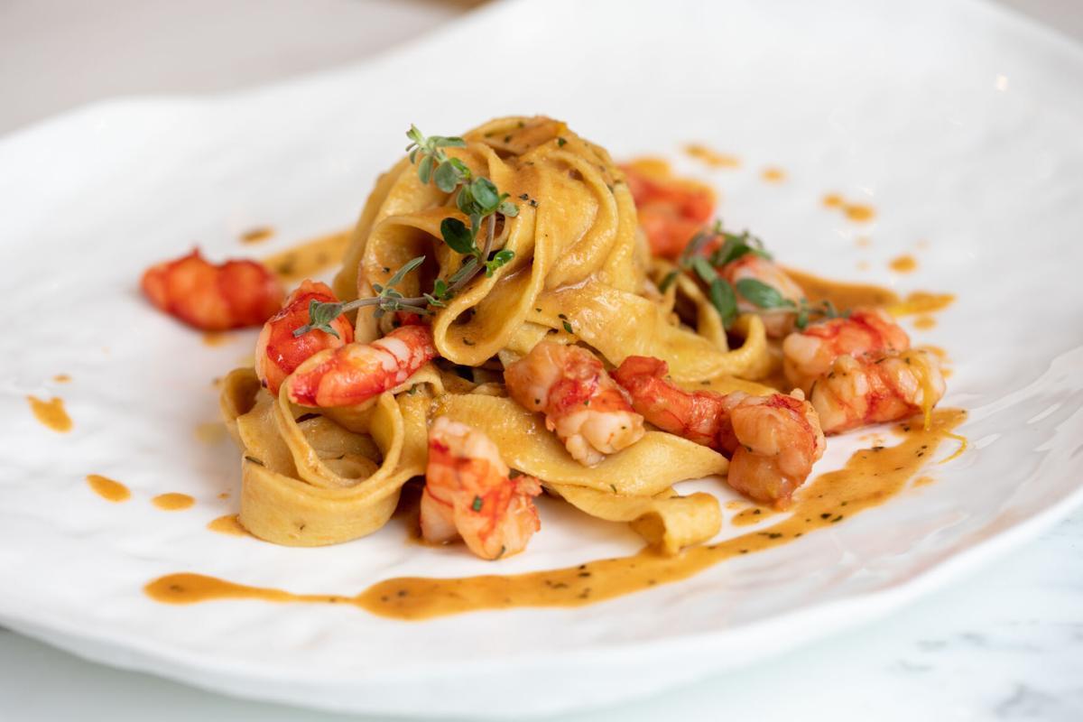 Casa Don Alfonso Tagliatelle with Shrimp