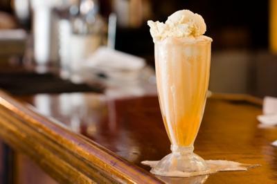 The Fountain on Locust's orange ice cream soda