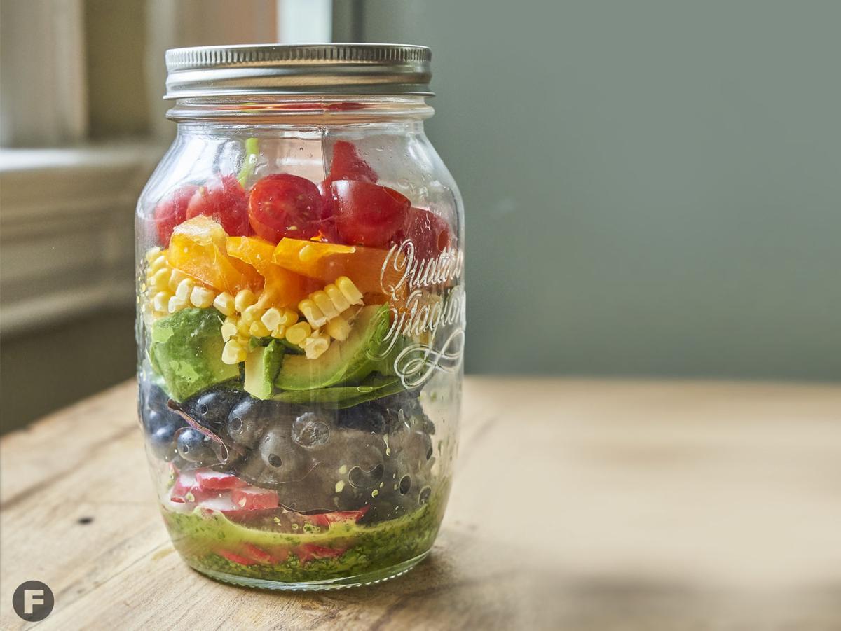 Rainbow Salad in a Jar
