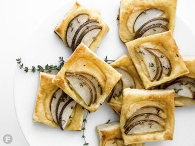 Gouda-Pear Puff Pastry