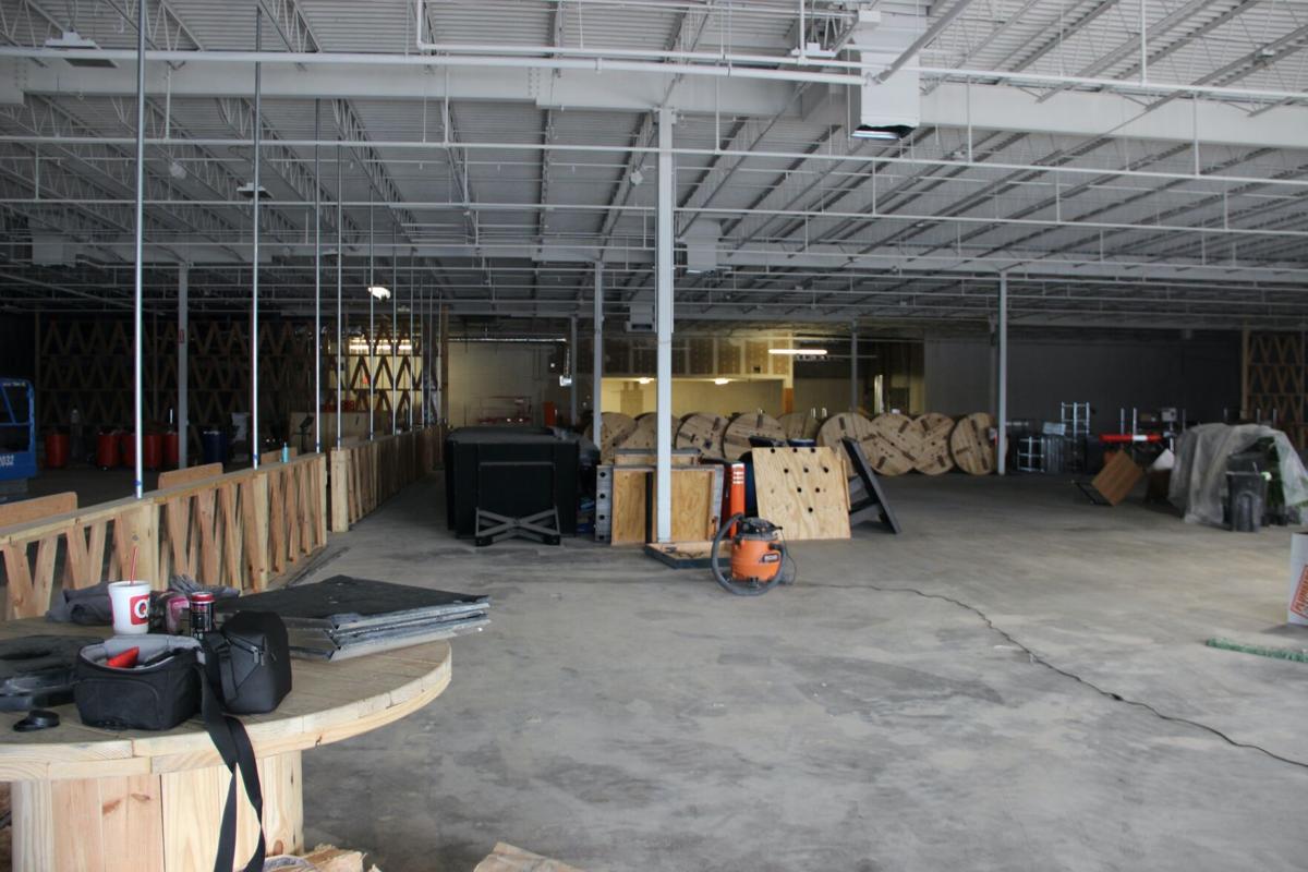 Rec Hall under construction