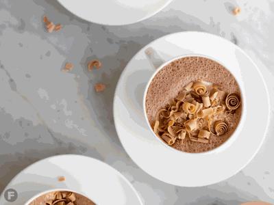 Milk chocolate-passionfruit hot chocolate