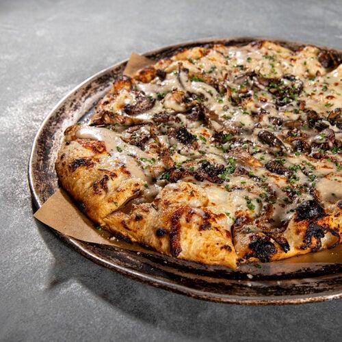 Mushroom Yard Pizza
