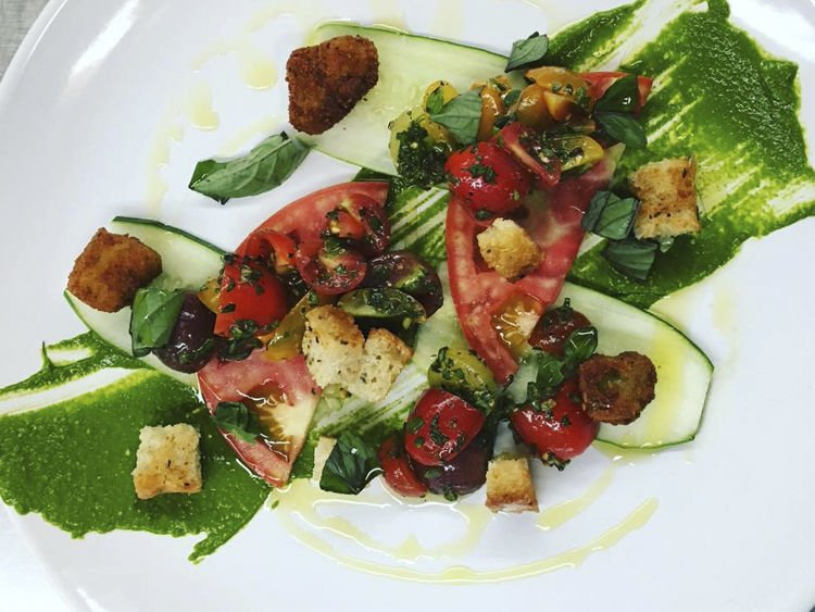 Keepers Quarters Tomato-Cucumber Salad