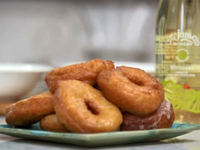 Potato Donuts with Moscato and Coffee Glazes
