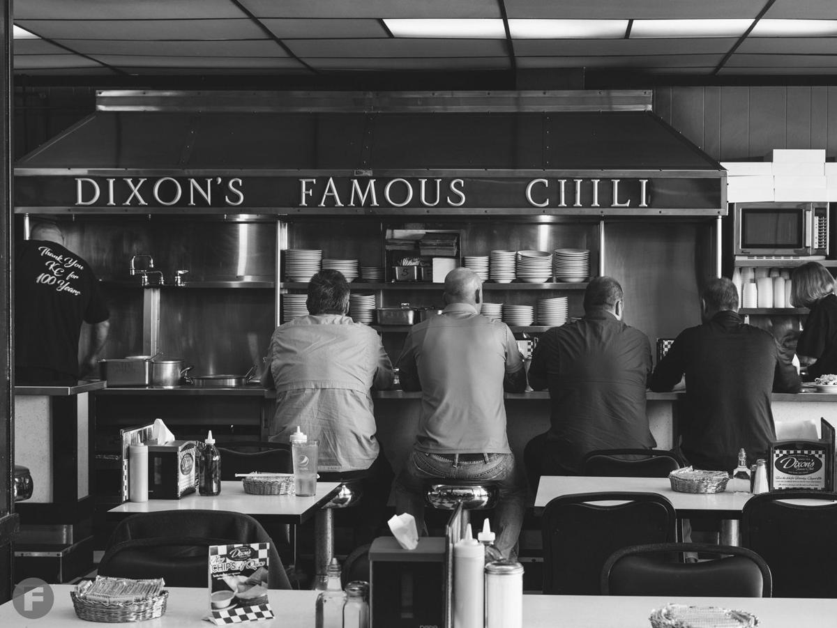 """Dixon's """"Famous"""" Chili counter"""
