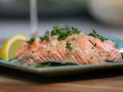 Salt-Baked Trout with Beurre Blanc