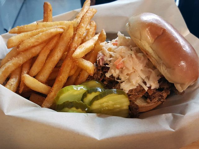Chops BBQ & Catering Pulled Pork Sandwich