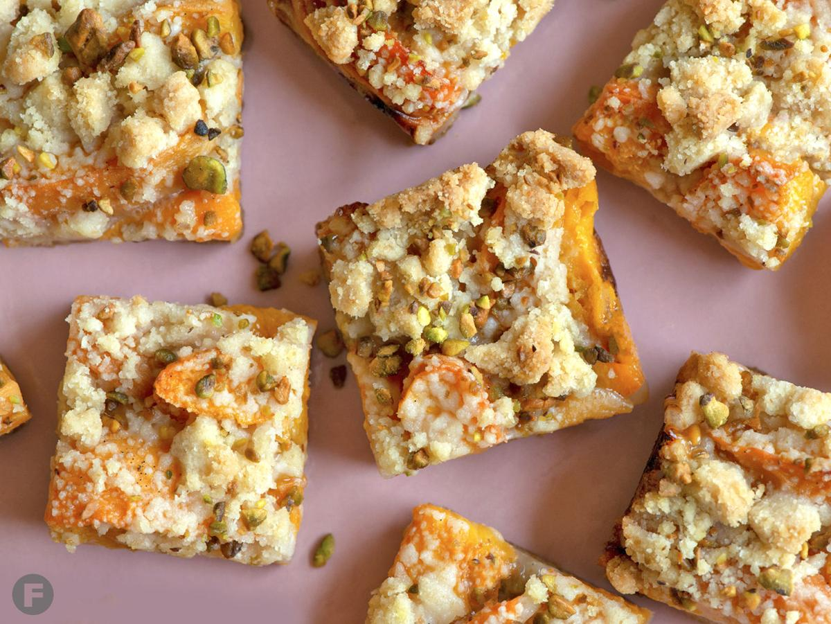 Roasted Apricot & Pistachio Squares
