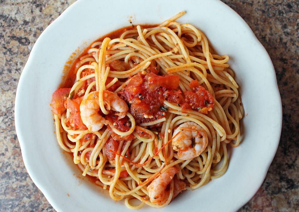 Favazza's Spaghetti Pomodoro With Shrimp