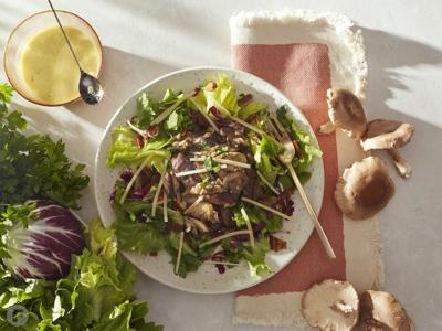 Warm Mushroom & Bacon Salad