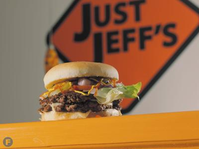 Double Cheeseburger at Just Jeff's