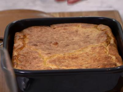 Southern-Style Spoonbread with Country Ham and Cheddar