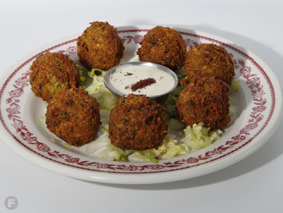 Queen Sweets and Mediterranean Grill falafel plate