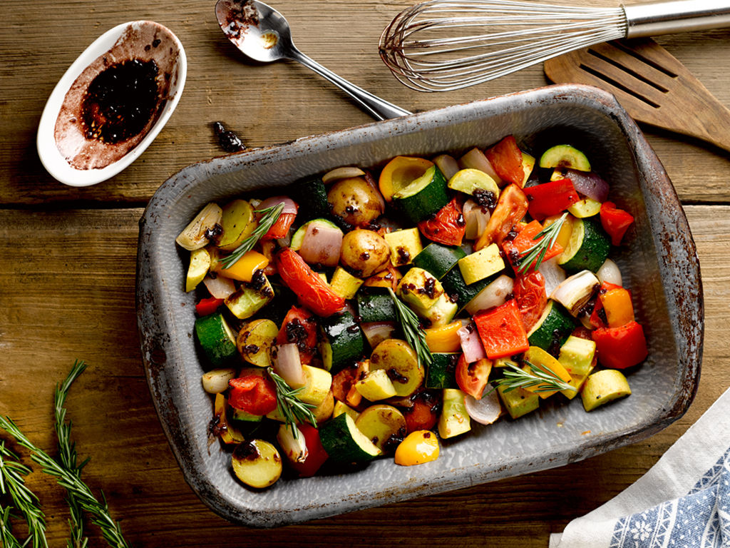 Roasted vegetables with red wine reduction main courses feast roasted vegetables with red wine reduction forumfinder Choice Image