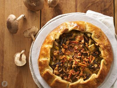 Leek, Shiitake and Bacon Galette