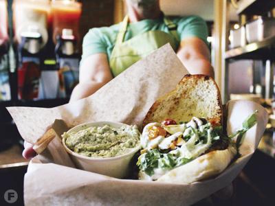 Catalpa sandwich and side