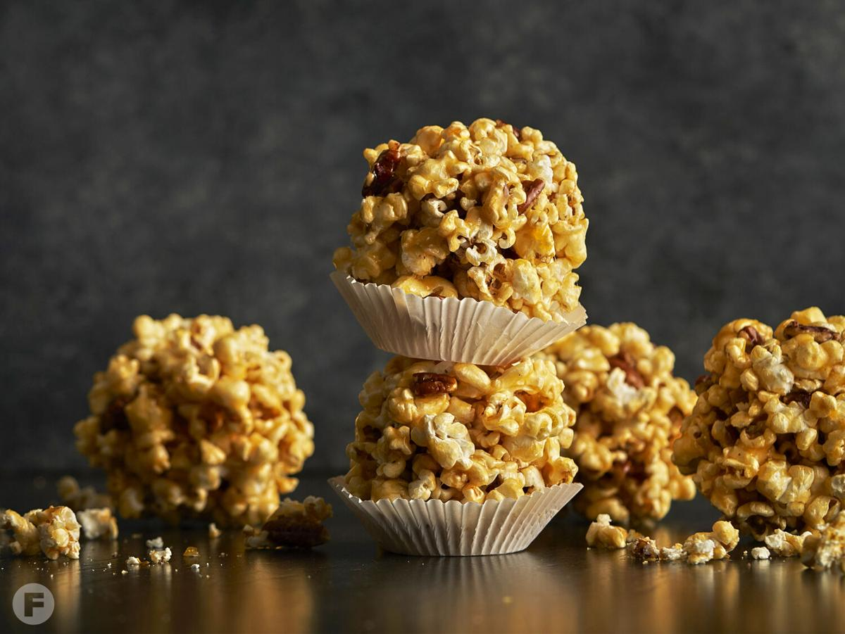 Sorghum-Pecan Popcorn Balls