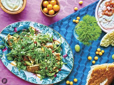 Anchovy Fattoush Salad