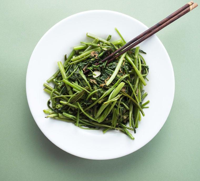 #158: Water spinach stir-fried with garlic