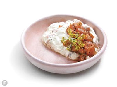 Cured Salmon with Mast-o Khiar