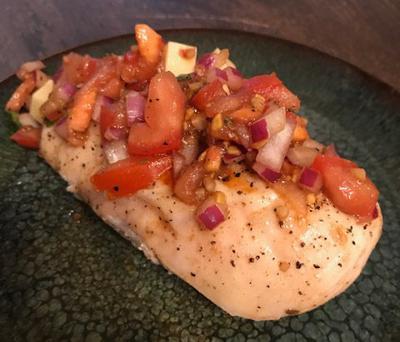 Recipe: Grilled chicken bruschetta
