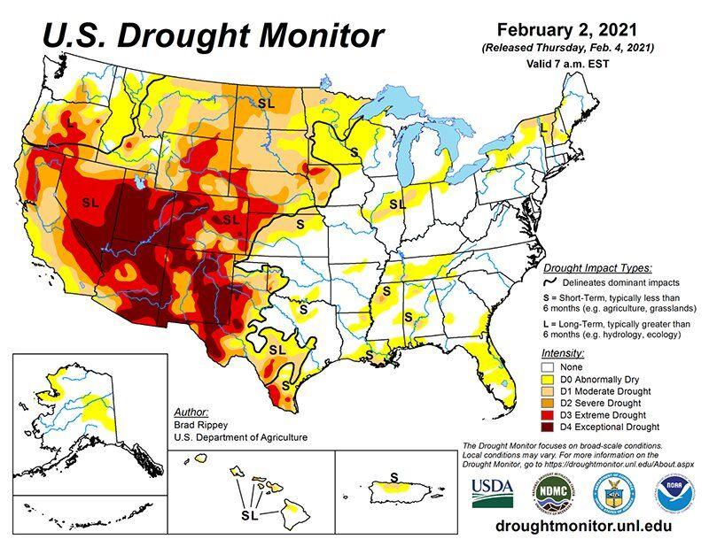 Mngmnt Texas Drought Monitor