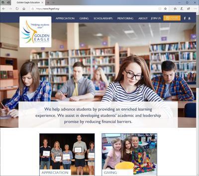 Golden Eagle Education Foundation reveals its new website