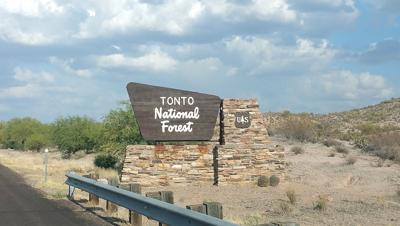 Tonto National Forest Sign