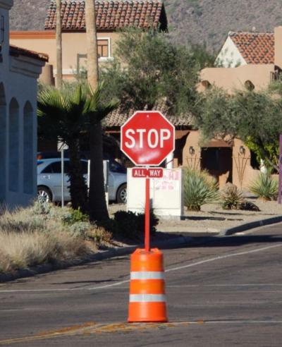 Stop sign protection