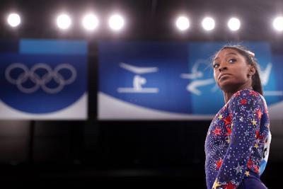 Simone Biles exits; ROC wins women's gymnastics