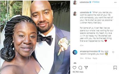 Uzo Aduba reveals secret marriage to filmmaker Robert Sweeting