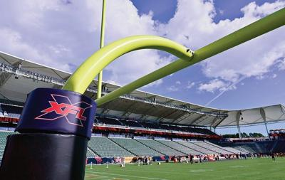 goal post with XFL logo