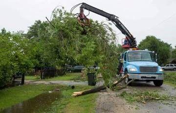 Hurricane Nicholas cleanup
