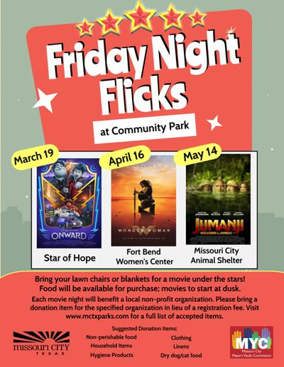 Missouri City to screen 'Friday Night Flicks' at Community Park