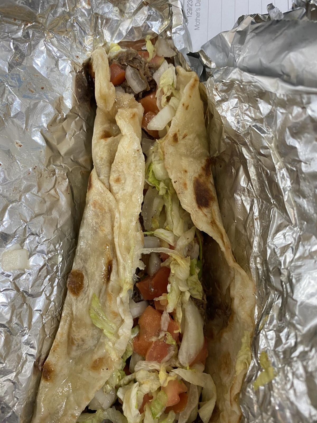 Charlie's Tacos Carne Guisada