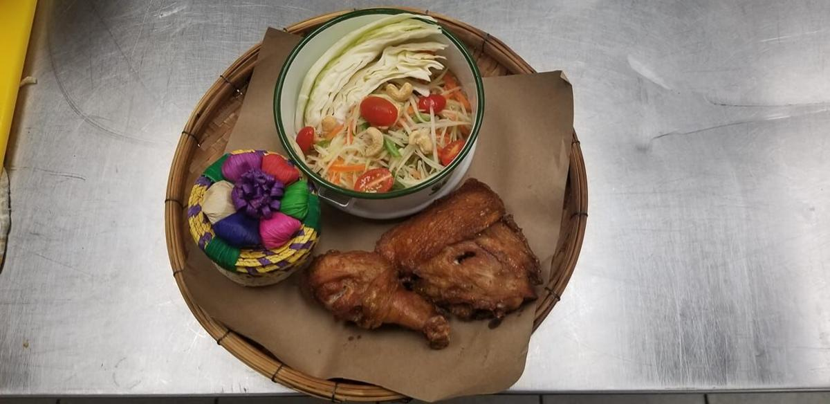 Papaya Salad and Thai Fried Chicken with Sticky Rice.jpg